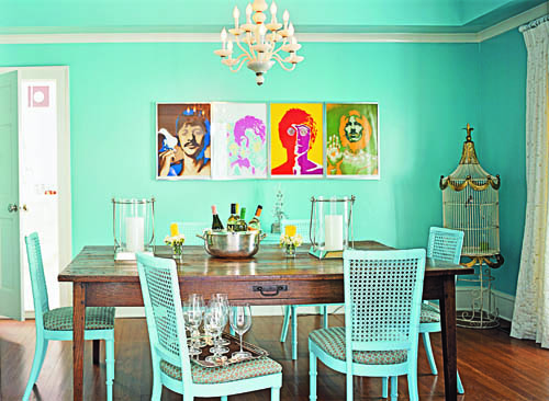 Beatles-inspired Dining Room: Southern Living Magazine