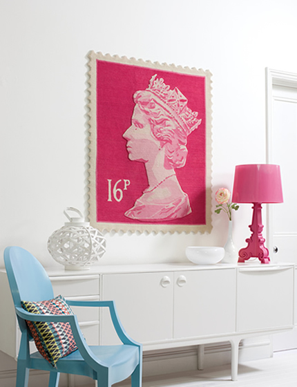 Postage Stamp Wall Rug