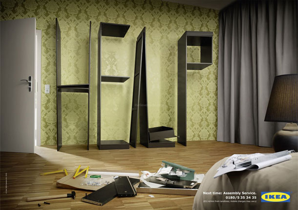 IKEA home assembly service advert