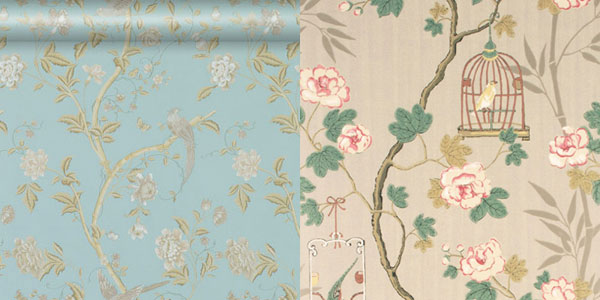 Laura Ashley and G, P & J Baker wallpaper
