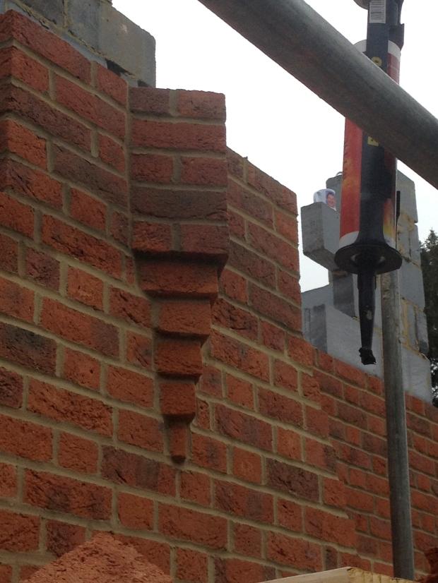 Diamond detail on brick chimney