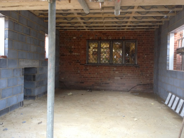 New dining room looking towards kitchen