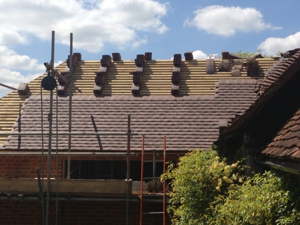 The new roof tiles